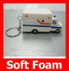 White Truck Key Chain Squeeze Gift