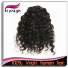 Top grade hot sell 16inch french curl mongolian hair