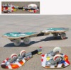 Patent four wheels Wave board with anti-slip Sand paper