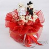 Romantic Bear Bouquet-valentine gift bridal bouquet