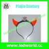 LED flashing plastic devil horns for party