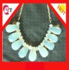 Newest fashion bubble bib statement necklace in glass tear drop