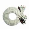 Gold-plated 5RCA Plug to 5RCA Plug Cable