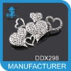 Many hearts cheap brooches 2012new arrivel brooch for wedding invitations