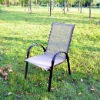 Teslin chair with iron frame