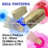 Bulk Toothpicks 2.0*65mm Double Pointed High Quality and Low Price Factory Outlet