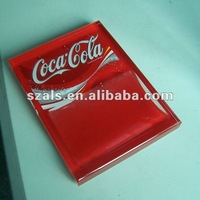 LED acrylic serving tray for Coca Cola
