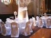 wedding chair covers with round top