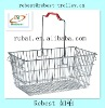 Popular & best price supermarket metal wire shopping basket with one handle RHB-FE027