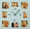 Glass Wall Clock with Photo Frame