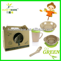 rice husk kid set tableware