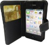 2012 new leather case For iPhone 4/4s with business card holder