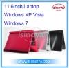 11.6''inch Windows XP VISTA Windows 7System Intel Atom D450 Support OEM LOGO Netbook Computer Desk top Computer Lap top