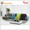 living room cheap leisure fabric sofa set
