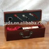 Wooden wine box with bottle opener