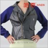 Ladies' Woven & Pu leather jacket