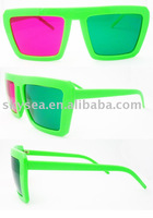 Green/red lens plastic 3D glasses(3D003)