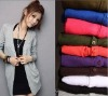 Ladies thin knitted jersey long cardigan