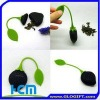 Novelty silicone tea infuser with leaf hot selling in 2011