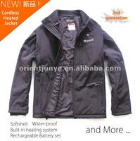 Men's Cordless Heated Jacket, Softshell Workwear, 2nd generation new technology