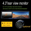 New design 4.3 inch car reversing mirror monitor with speaker