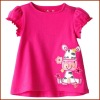 Emboridered 100% Cotton Girls Short Sleeve T-shirt