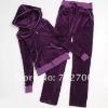 plus size fashion women velvet sport suit
