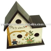 Customized wooden bird house