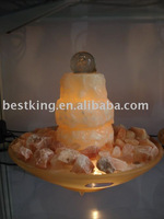 Real stone fountain,Calcite water fountain with glass ball