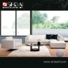 952 Modern white color leather corner sofa