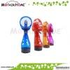 Plastic mini battery operated handheld mist spray fan