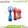 Plastic mini battery operated handheld mist spray fan