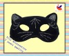 2012 simple cat eye design party mask for carnival