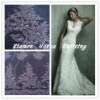 Embroidery jacquard lace with cording and beads