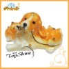 ZB0061 Oil Drop Ornamental Parent-Child Dog Themes Craft