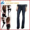 Women`s Boot Flare Custom Made Jeans (HX-N432)