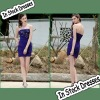 SC0007 Strapless Dark Blue Satin Short Dress Cocktail Dresses