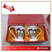 unique porcelain mug sets for lovers with gift box