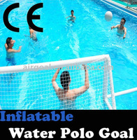 Water Polo Cap(Inflatable&Portable Water Polo Goal )