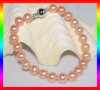 AAA 8-9mm full round pearl bracelet with ball clasp B511