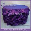 TC001C Wedding decoration purple handmade table cloth