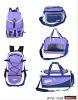 new design purple traveling bag 5pcs set