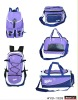 new design purple traveling bag 5pcs set