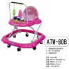 Baby Walker Pink/basic model/8 wheels