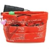 Organizer bag of nylon material orange color