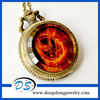 Vintage The Hunger Game Pocket Watch Gorgeous Fire Mocking Necklace