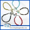 fj jewelry metal charms for paracord evil eye crystal bracelet