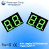 jade green color two digits led display 7segment Digital 0.36 inches LED digital