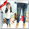 Best Brand Zhongtingyang Cheaper Price Girl's Ripped Jeans New Kids Jeans