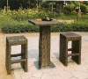 Modern Rattan Bar Table and Chair set rattan furniture